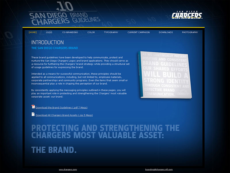 chargers brand guide