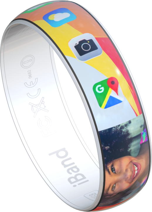 iBand - render of a smart bracelet concept
